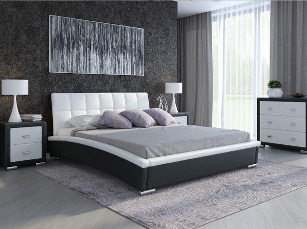 Кровать Corso 1 (Samoa) черный-белый