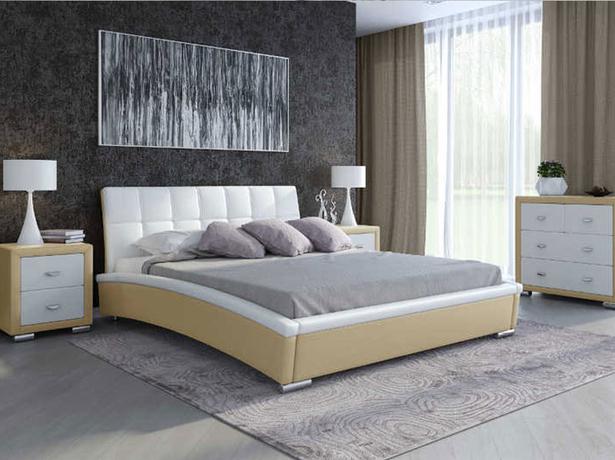 Кровать Corso 1 (Samoa) бело-кремовая